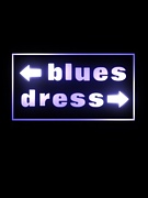 ←blues dress→