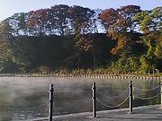 夜明けの小川原湖