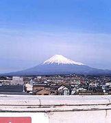 富士山とブギードッグ。