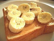 ピーナッツバターにはバナナ!