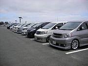 富士山近辺のミニバン好き集合!