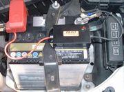 車のバッテリー上げる