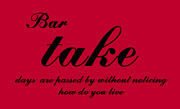 Bar takeに何曜日集まる?