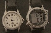 JRの車掌の腕時計(鉄道時計)