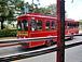 グアムの赤いシャトルバス好き!