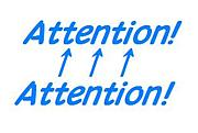 Attention! Attention!