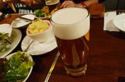 サラダとビールの美味しい関係♪