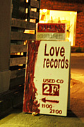 """""""LOVE RECORDS""""(USED CD SHOP)"""