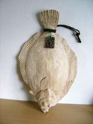 木彫りの魚