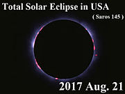 皆既日食(2017年)をアメリカで