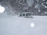 4輪駆動車で雪中行軍(冬限定)