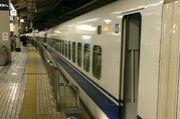 新幹線に乗る練習