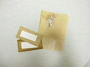 手作りの便箋、封筒。