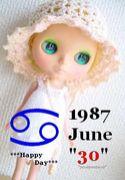 ★1987年6月30日誕生日★