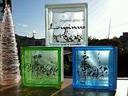 Glass art Lupinus