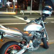 バイクで夜ツーリング!