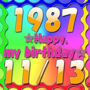 1987年11月13日生まれ。