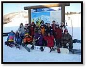 サークル雪山スノーボードスキー