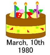 1980年3月10日生まれの会