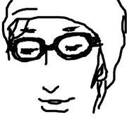 ニット帽にダテメガネ
