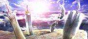 メイドさんと大きな剣