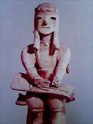 琴を弾く男子 (埴輪)