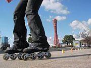 インラインスケートin神戸♪