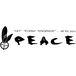 """シルバーアクセサリ """"PEACE"""""""