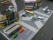 ヨドバシ梅田前歩車分離信号推進