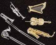 楽器や音符モチーフが好き
