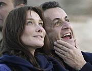 サルコジとカーラ ブルーニ夫妻