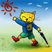 黄色い子猫