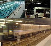 鉄道orバス水泳も好き