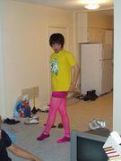 蛍光Pinkの網タイツ