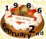 1986年2月2日に運命感じよう☆