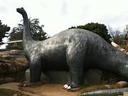 児童会館の恐竜すべり台