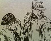 承太郎と露伴。