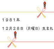 1981年12月28日生まれ