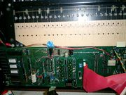 The inside of the synthesizer