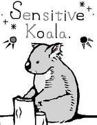 繊細なコアラ