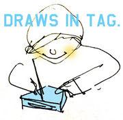 付箋に絵を描く