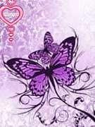 紫*蝶モチーフLove