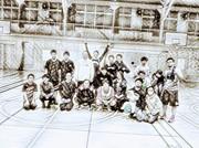 横浜市松本中学校でバスケしよう