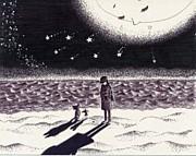 ・月夜の浜辺