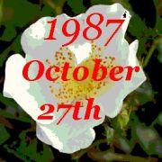 1987年10月27日誕