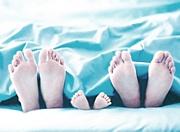 「靴下をはいて寝る」