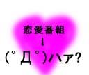 恋愛番組のどこが良いんだよ!!