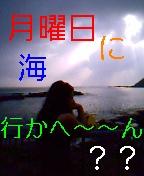 月曜日に海行かへ〜〜ん??