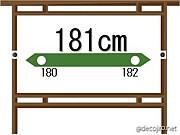 身長181cm