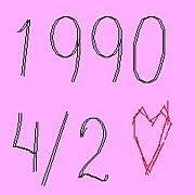 +1990年4月2日生まれ+